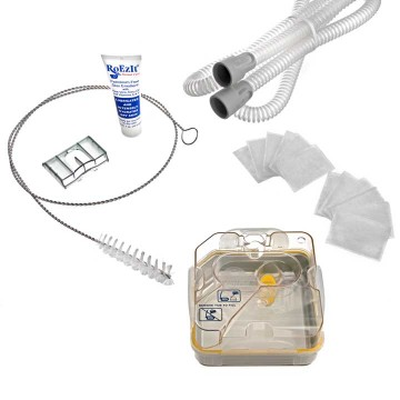 S9™ Series CPAP Tubing, Filter & Humidifier Supply Kit with FREE Tubing Brush & Therapy Lotion