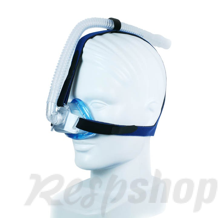 iQ Blue CPAP Nasal Mask with Three Point Headgear