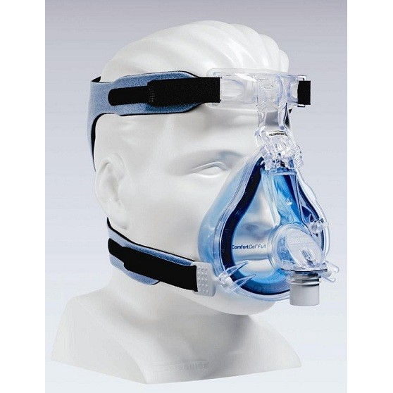 Respironics ComfortGel Full Face CPAP Mask with Headgear - CPAP Mask Sizing Gauge