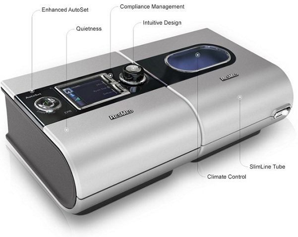 ResMed S9 AutoSet TM CPAP and H5i TM Humidifier