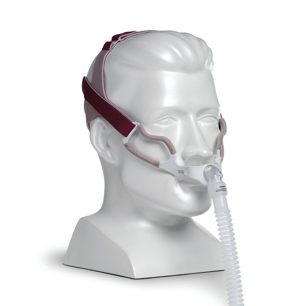 Respironics GoLife for Men CPAP Nasal Pillow Mask with Headgear