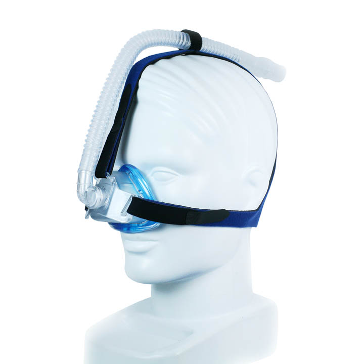 SleepNet iQ Blue CPAP Nasal Mask with Three Point Headgear