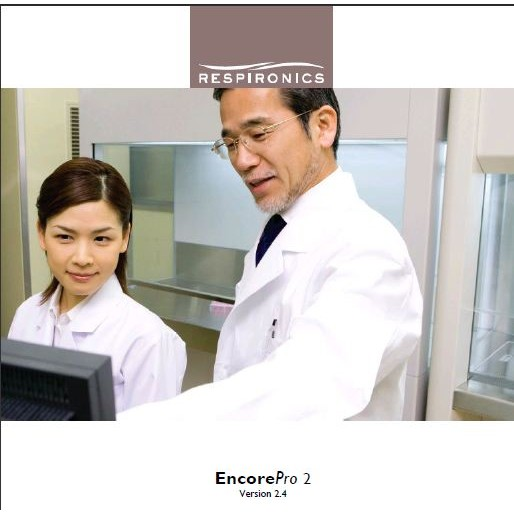 Respironics EncorePro 2.5 Software