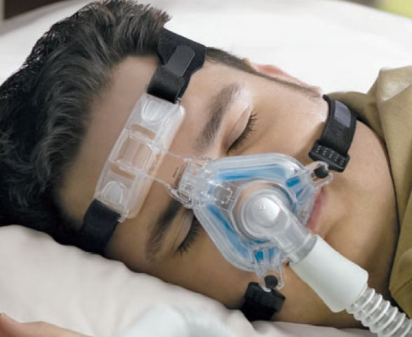 Respironics CPAP Mask with Headgear - ComfortGel Blue